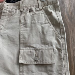 Gucci Pants - GUCCI 36/30.5 Ivory Cargo Pants With Flare Bottom